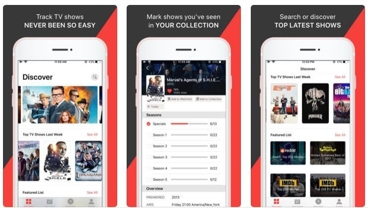 Movies Diary: Best free movie app for iPhone like Showbox in 2018 (3)